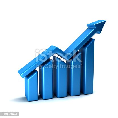 istock Finance Business Growth Bar. 3D Render Illustration 638030470