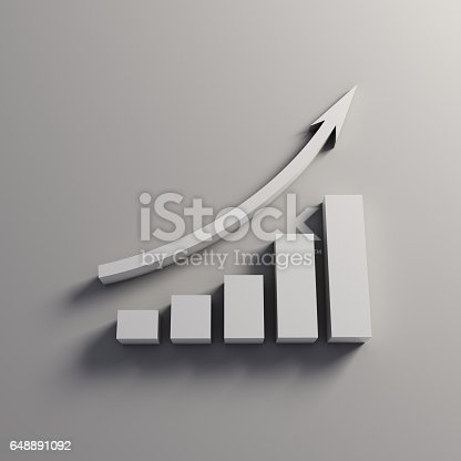 1014755036 istock photo Finance Business Growth Bar. 3D Render Illustration 648891092