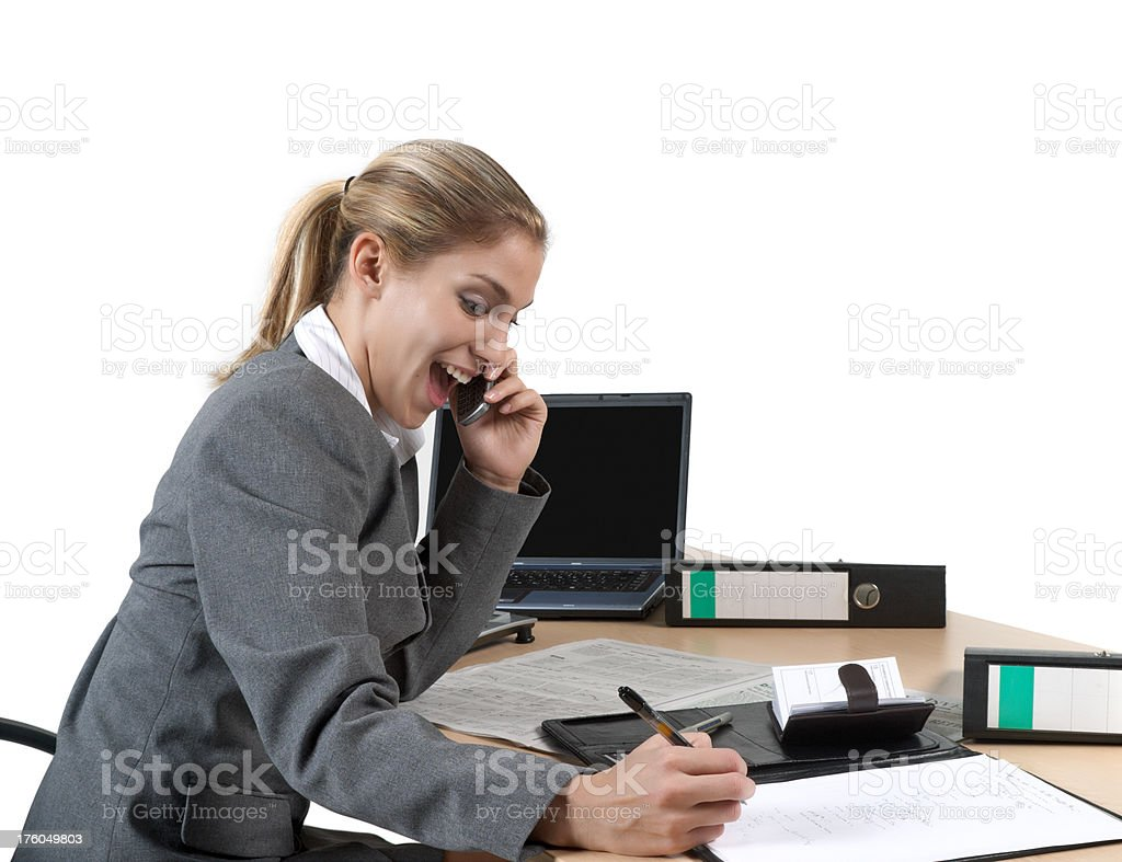 finance, business woman having success stock photo
