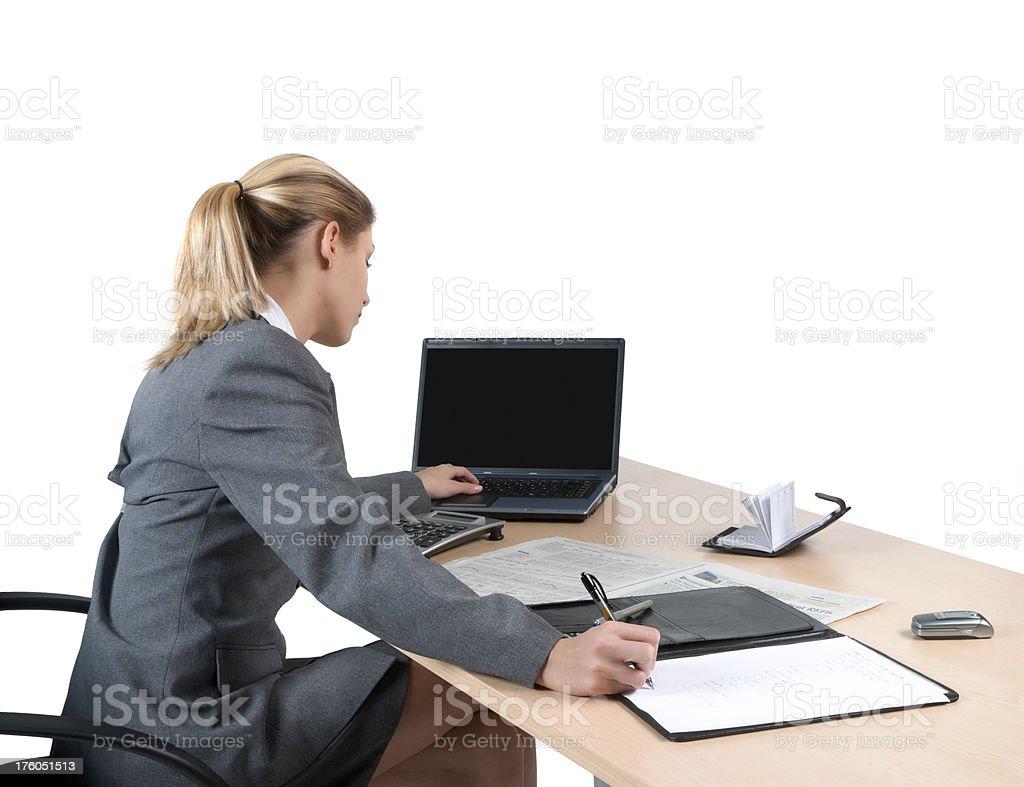 finance, business woman stock photo