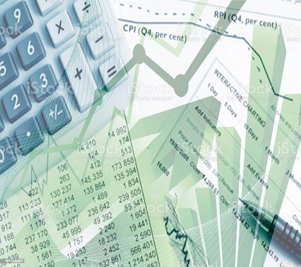 Finance Calculator stock photo