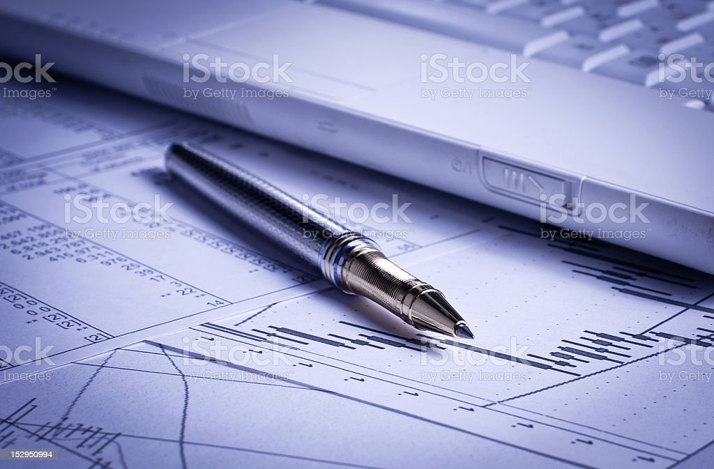 Finance charts analysis royalty-free stock photo