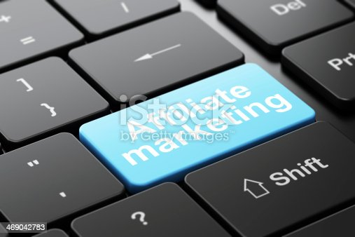 istock Finance concept: Affiliate Marketing on computer keyboard background 469042783