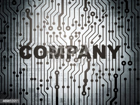 542587790 istock photo Finance concept: circuit board with Company 469812011