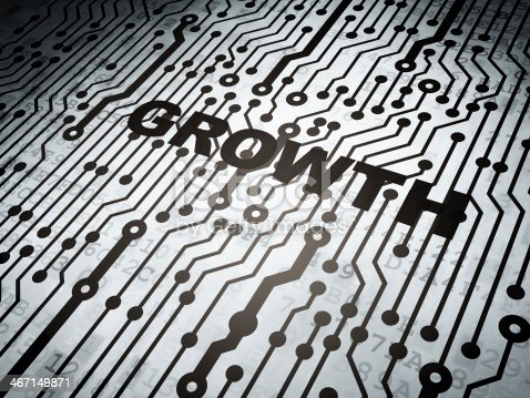 542587790 istock photo Finance concept: circuit board with Growth 467149871