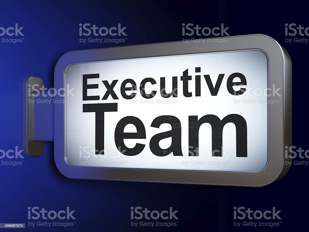 Finance concept: Executive Team on billboard background royalty-free stock photo
