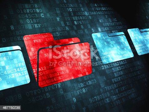 istock Finance concept: Folder on digital background 467750235