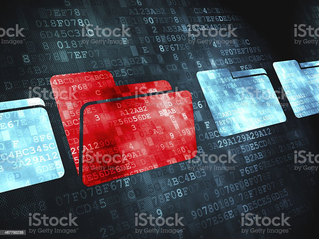 Finance concept: Folder on digital background stock photo