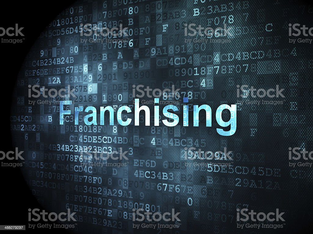 Finance concept: Franchising on digital background stock photo