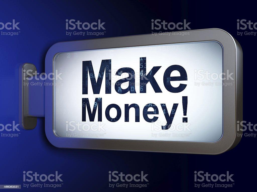 Finance concept: Make Money! on billboard background royalty-free stock photo