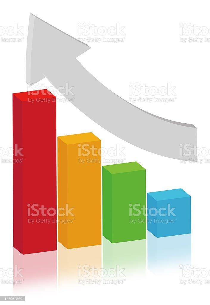 finance concept - multicolor bar diagram stock photo