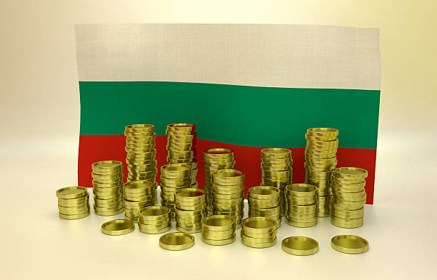 finance concept with Bulgarian flag stock photo