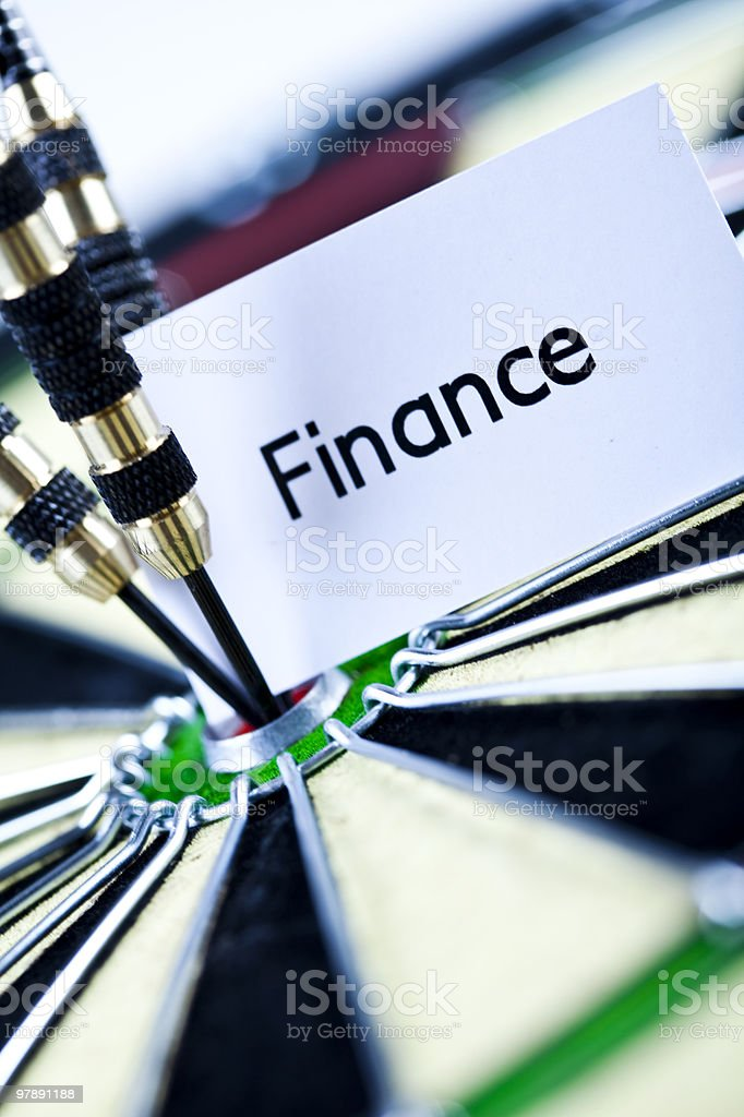 Finance dart royalty-free stock photo