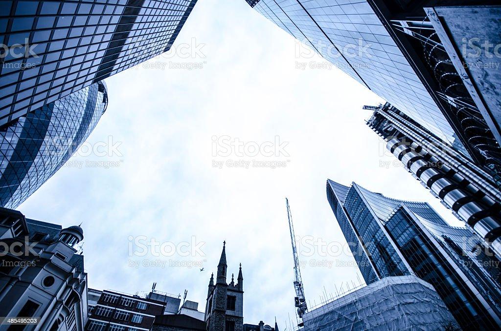 finance district London stock photo