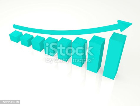 istock Finance graphic with curve arrow 532203915