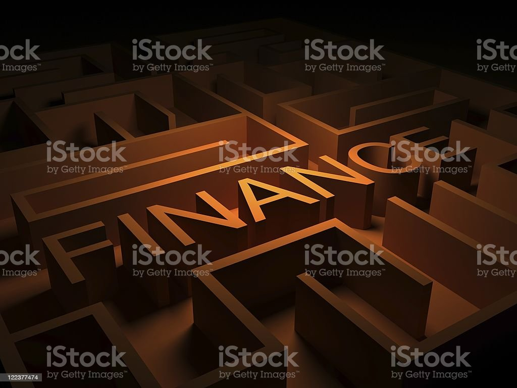 Finance Labyrith royalty-free stock photo