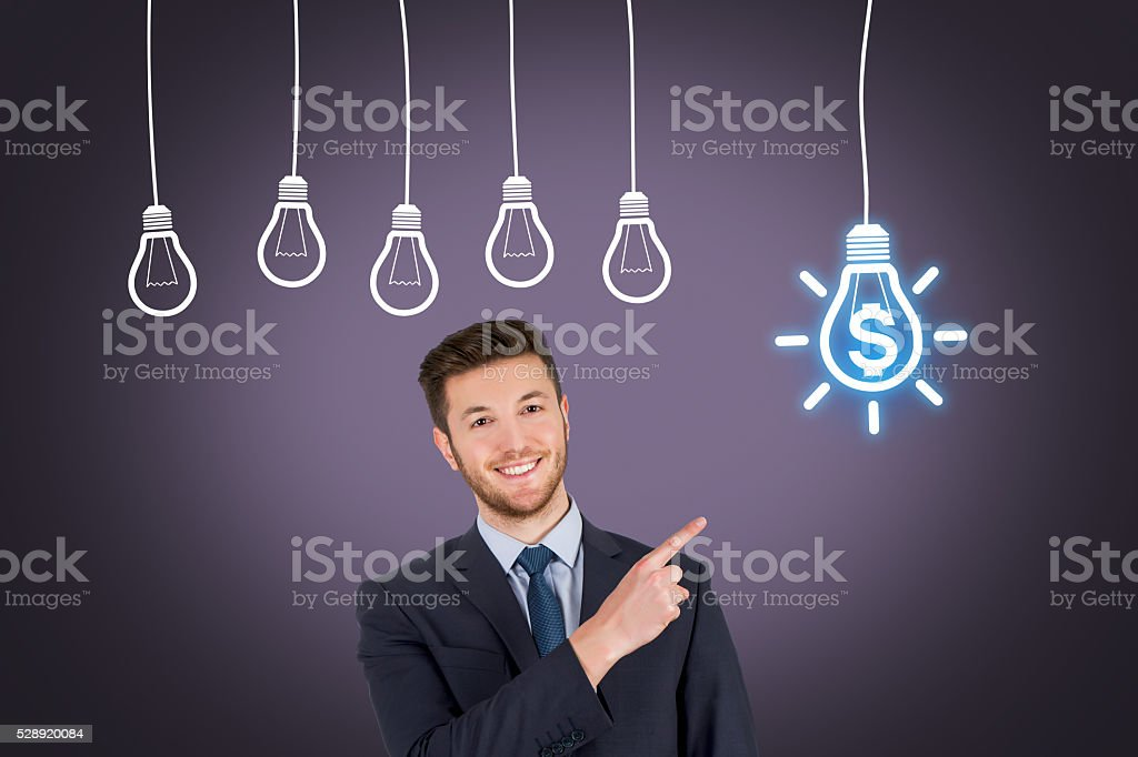 Finance Light Bulb Idea Concept stock photo