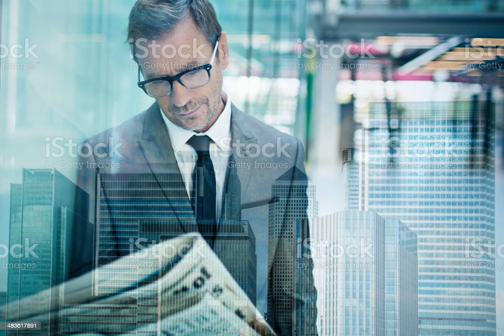 Finance newspaper stock photo