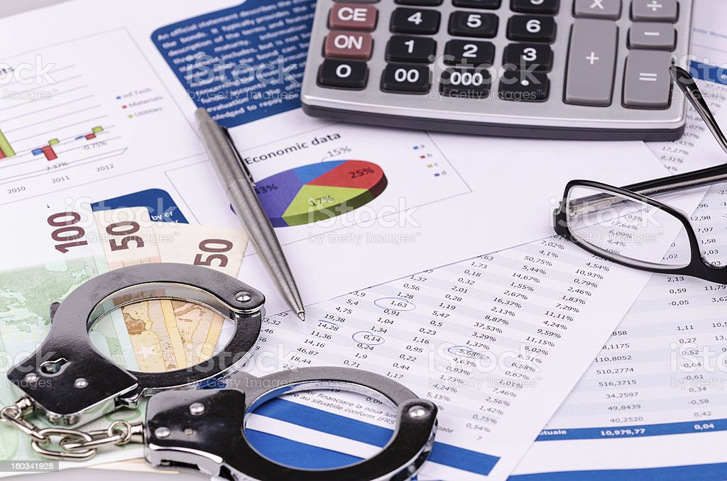 Finance, numerals and charts royalty-free stock photo