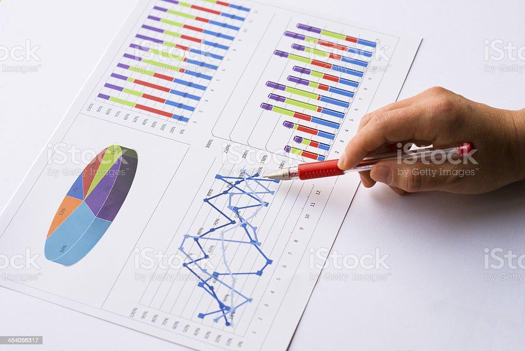 Finance report stock photo