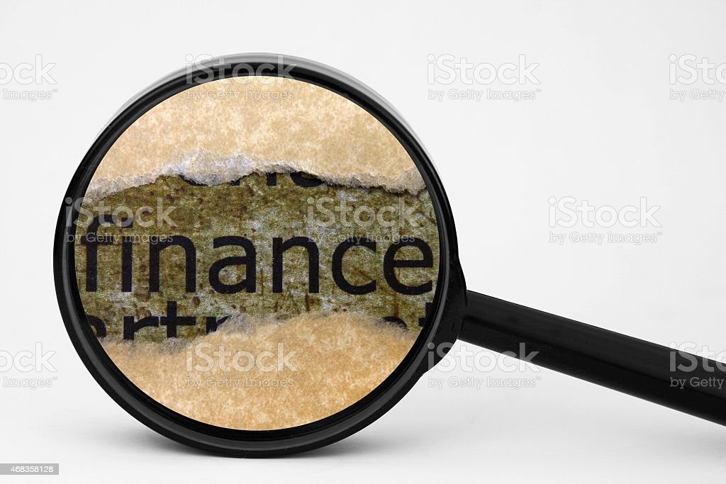 Finance search concept royalty-free stock photo