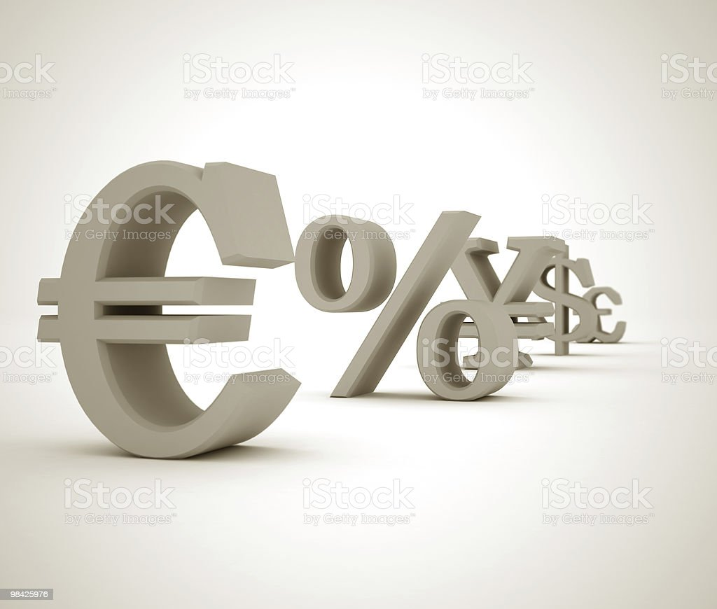finance symbols royalty-free stock photo