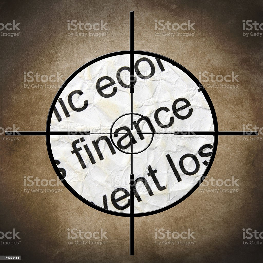 Finance target concept royalty-free stock photo