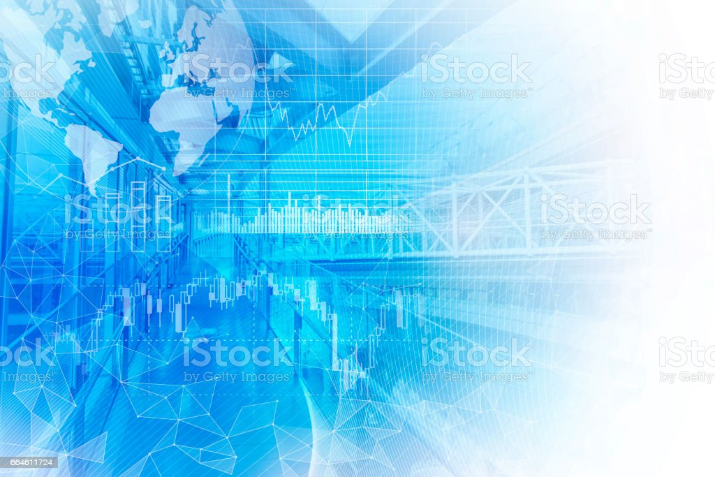 finance technology (fintech) and world economy, abstract image visual stock photo