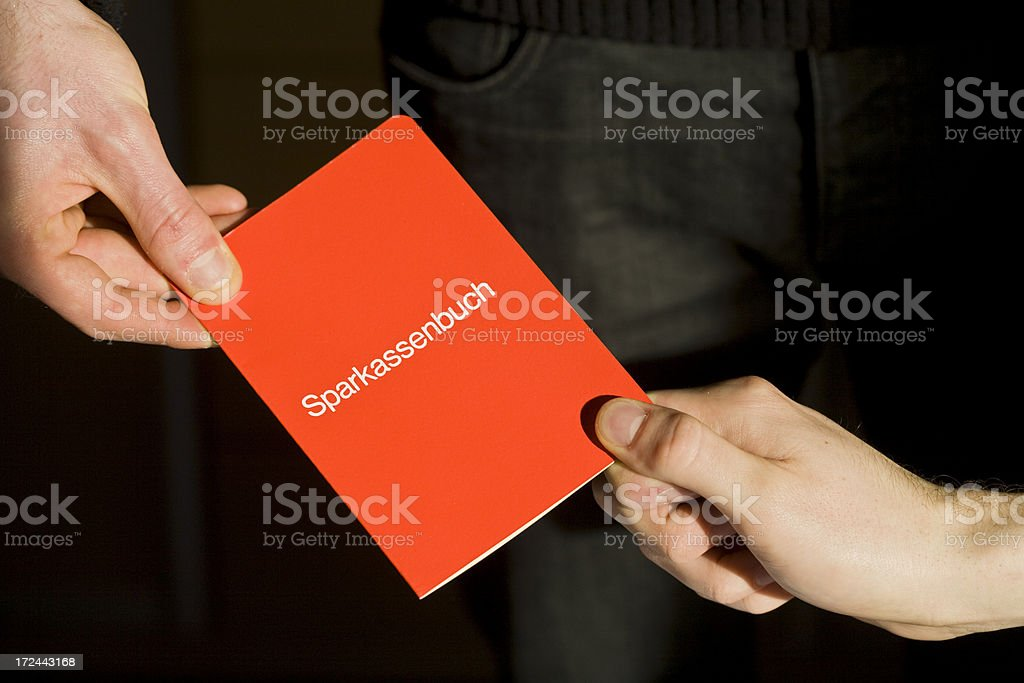 Finance with a black background stock photo