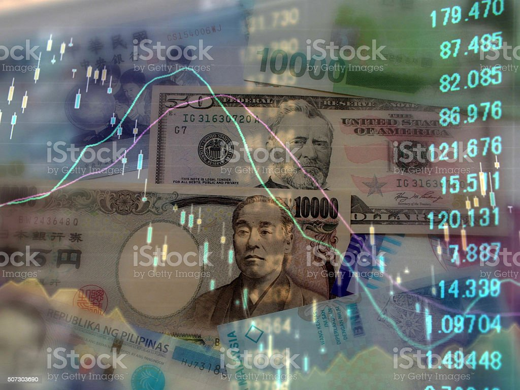 Finance National currency stock photo