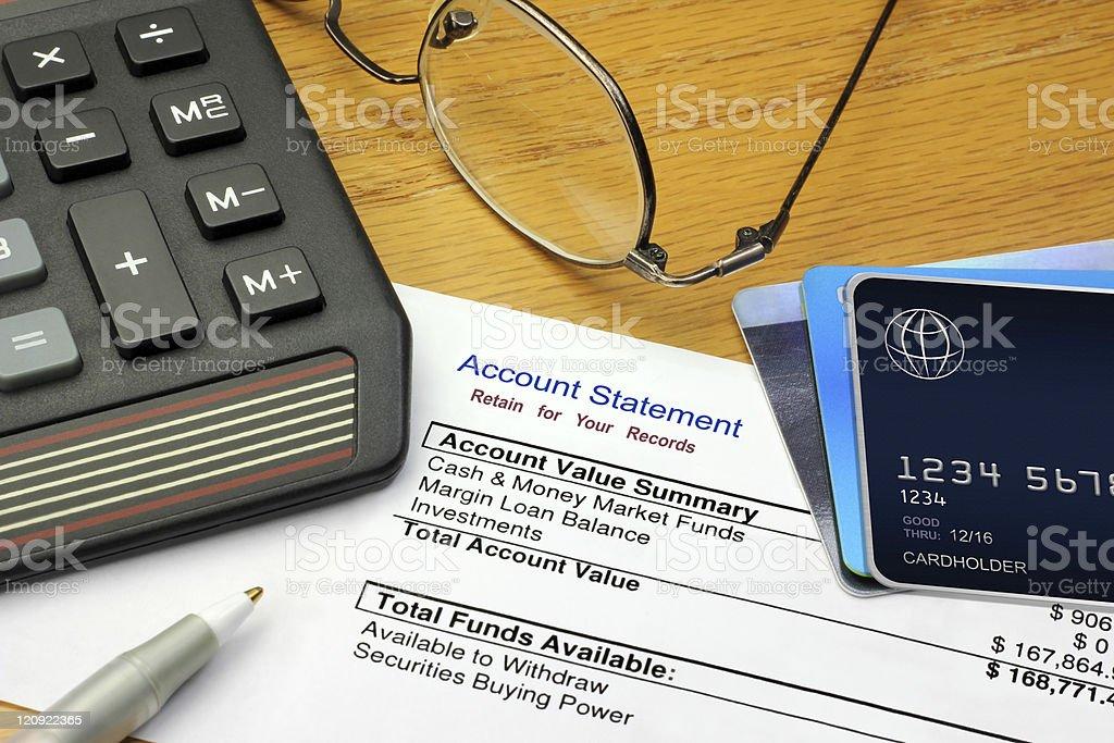 Financial Account Summary royalty-free stock photo