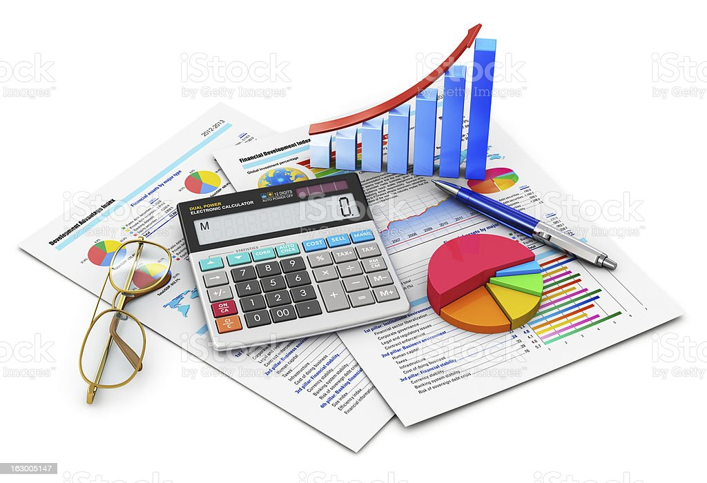 Financial accounting graphical representations royalty-free stock photo