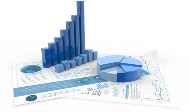 financial accounting management - diagramma a colonne foto e immagini stock