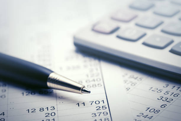 Financial accounting - foto stock