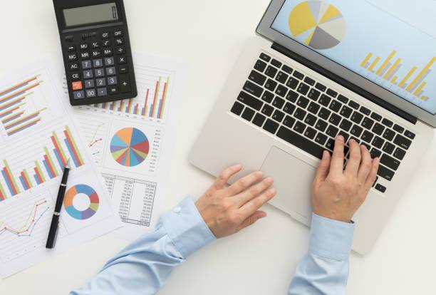 Contabilidad financiera - foto de stock