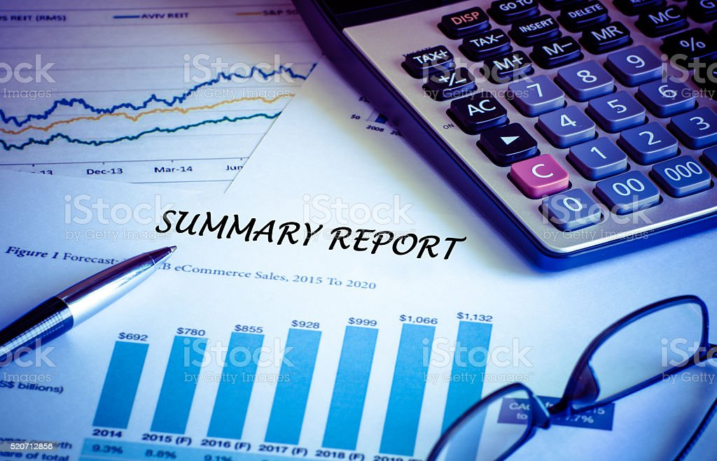 Fotografía de Informe De Resumen De Contabilidad Financiera Análisis ...