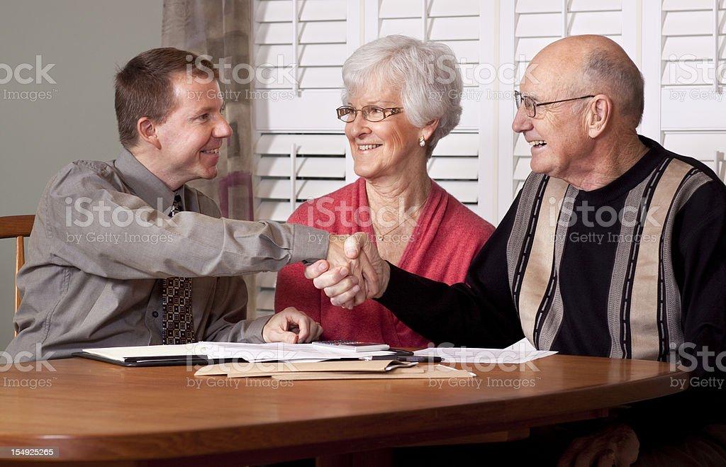 Financial Advice and Seniors (Advisor Series) royalty-free stock photo