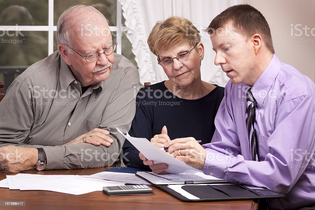 Financial Advice and Seniors (Advisor Series) stock photo