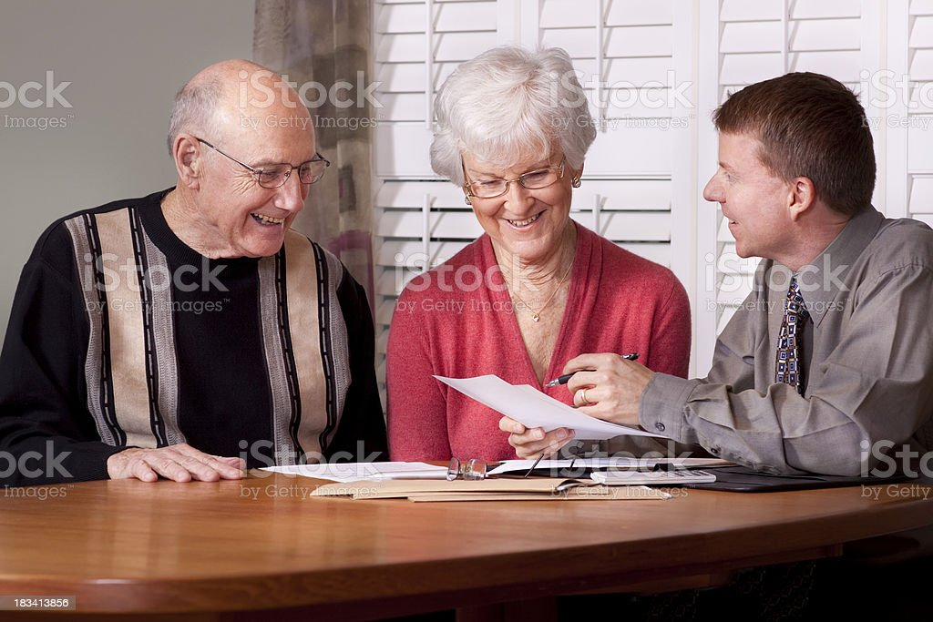 Financial Advice and Seniors (Advisor Series) royalty-free stock photo