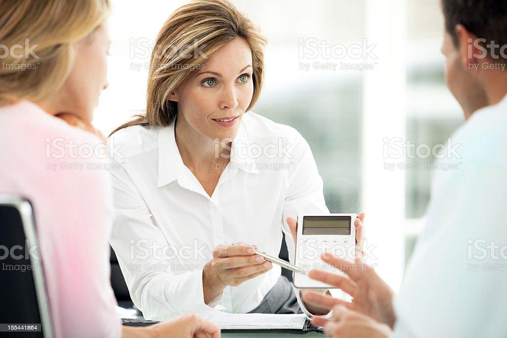Consultor financeiro - foto de acervo