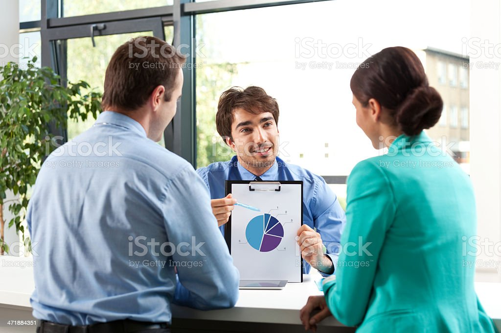 Financial advisor Adult couple having meeting with business consultant.  Adult Stock Photo