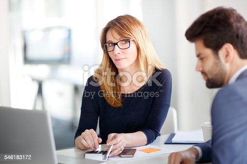 546183298 istock photo Financial advisor with client 546183172