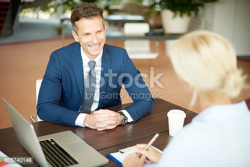 625740042 istock photo Financial advisor with client 625740146