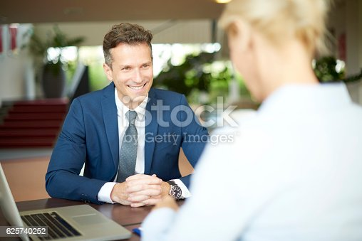 625740042 istock photo Financial advisor with client 625740252