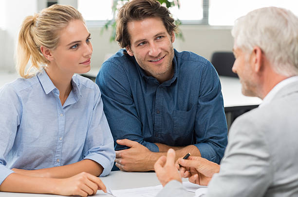 Conseiller financier avec le client - Photo