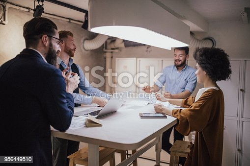 881542122istockphoto Financial advisors having meeting before meeting the clients 956449510
