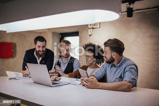 881542122istockphoto Financial advisors having meeting before meeting the clients 956451150