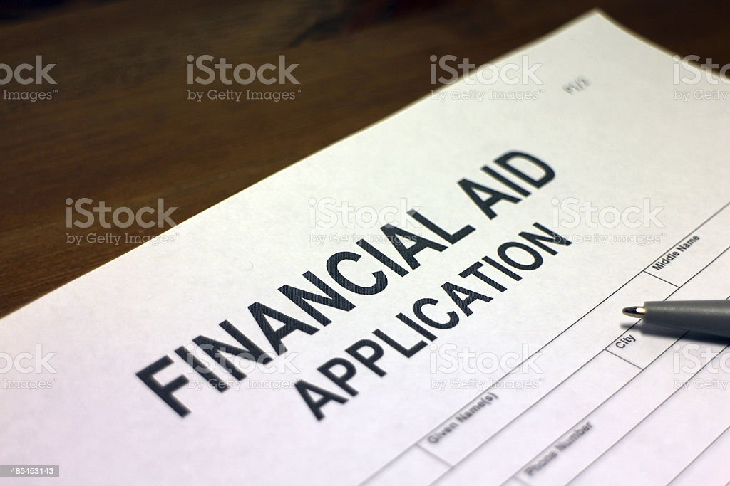 Financial Aid Application stock photo