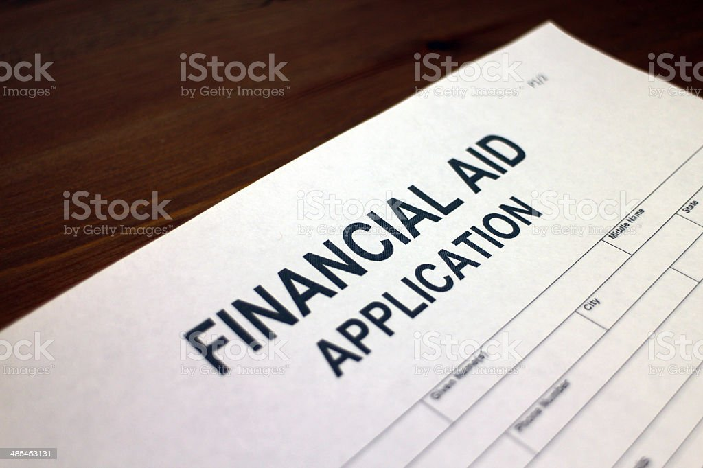 Financial Aid stock photo