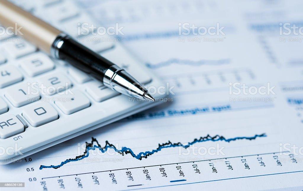 Concepto de análisis financiero - foto de stock